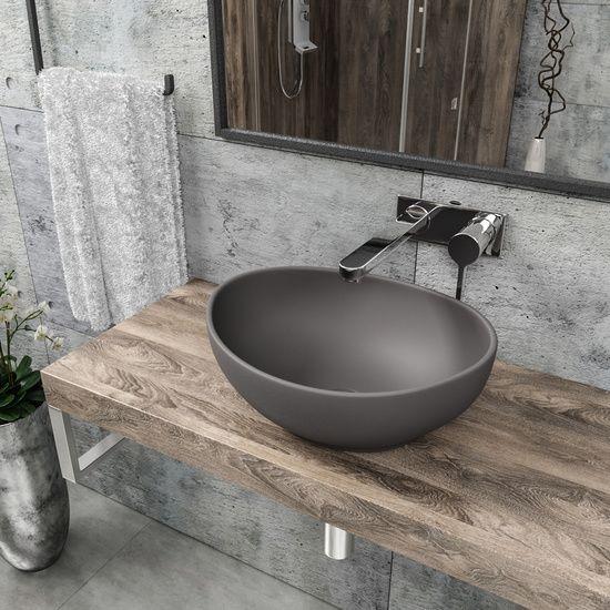 Waschbecken Kbw082 G Grau Waschbecken Gaste Wc Modern