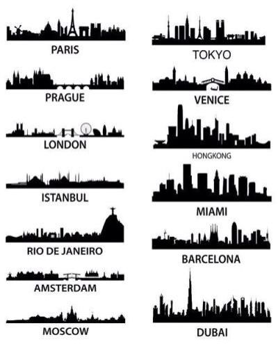 Travel the world,, see these skylines