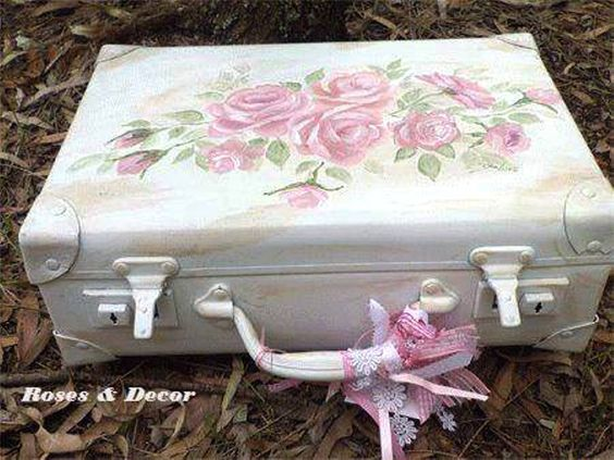 valise shabby chic chic shabby chic pinterest mat riel de bricolage shabby chic et tuis. Black Bedroom Furniture Sets. Home Design Ideas