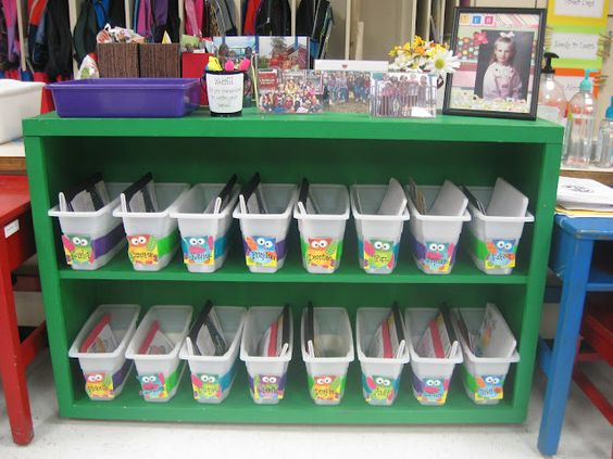 Book Boxes using Walmart ice bins and colored duct tapeice bins from walmart