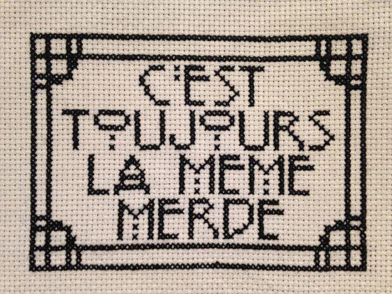 C'est Toujours La Meme Mde Cross Stitch Pattern by TheBohoStitcher