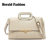2014 bolsas de Desigual elegante piel de vaca 100 % de mujeres maletín OL cuero genuino bolso de mano del bolso de hombro Bolsas femininas sólido