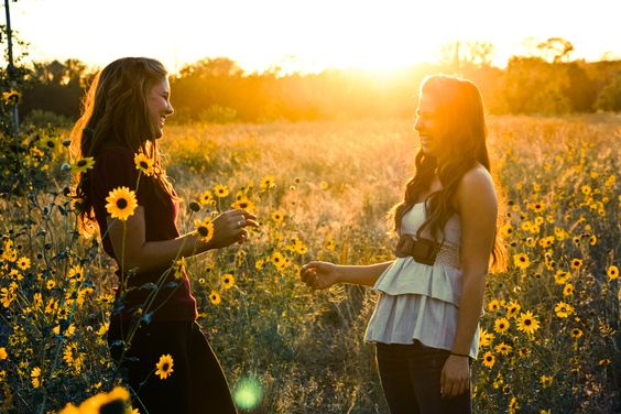 friends are like your own field of sunflowers... they keep encouraging you to turn your face towards the sun!