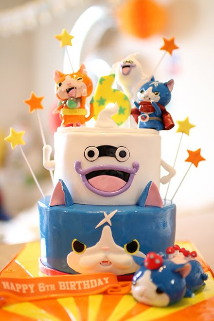 Yo kai watch cake birthday party ideas pinterest for Decoration yo kai watch