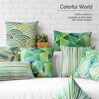 """Aquarela abstrata geométrica fresco de onda folha de cobre almofada decorativa caso jogar travesseiro 18 """""""