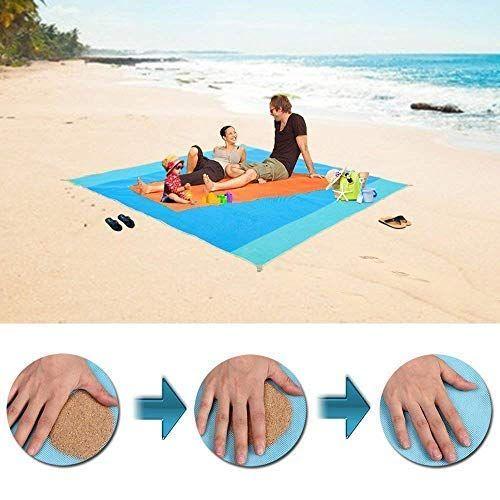 Sand Free Beach Mat Water Resistant Sandless Blanket Dirt Sandless Beach Mat Beach Mat Portable Beach Blanket