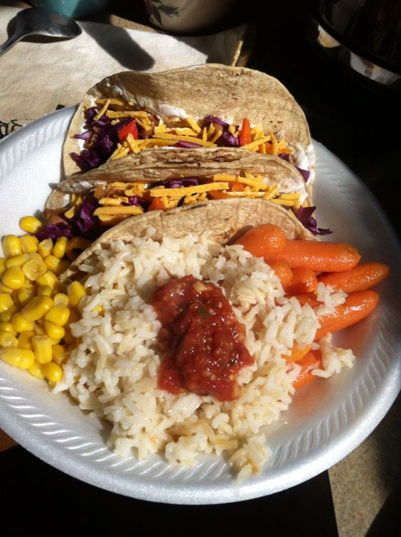 Vegan tacos I made today. With pinto beans.
