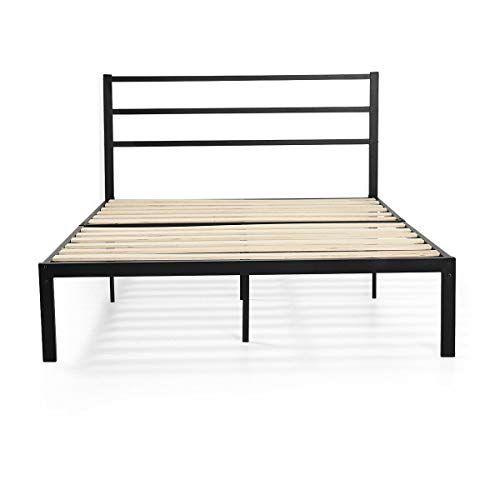 Cypress Shop Metal Bed Frame Full Size Platform Wood Slat Heavy Duty Headboard Mattress Foundation Slat Full Metal Bed Frame Metal Bed Frame Metal Platform Bed