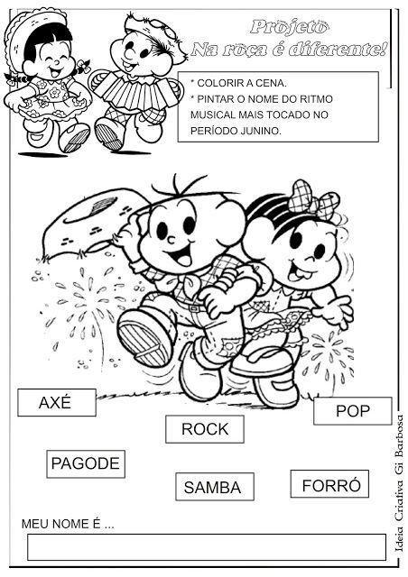 Atividade Festas Juninas Na Roca E Diferente Comidas De Festa