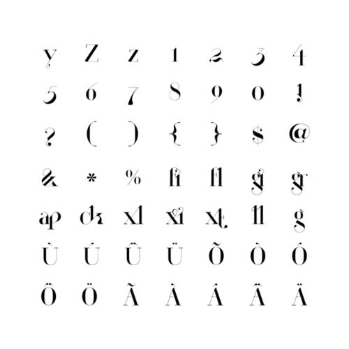 Paris | New Typeface by Moshik Nadav Typography on the Behance Network