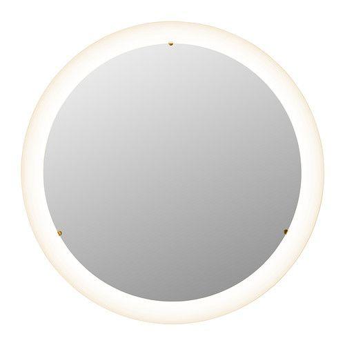 IKEA - STORJORM, Spiegel mit Beleuchtung, , Leuchtdioden verbrauchen ca. 85 % weniger Energie und halten 20-mal länger als Glühlampen.Für breit gestreutes Licht, das z. B. das Badezimmer wirkungsvoll erhellt.Spiegel mit Sicherheitsfolie auf der Rückseite, die das Gefahrenrisiko durch splitterndes Glas mindert.