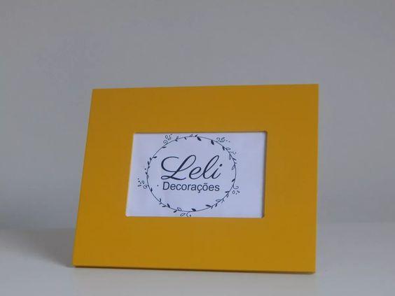 Porta Retrato Para Foto 10x15 Amarelo - R$ 26,00