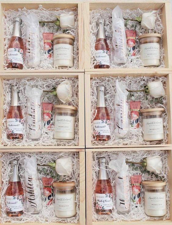 Bridesmaid Proposal Box Ideas - Rose Gold Champagne Flutes - Bridesmaid Proposal Gift - Cambridge Avenue Design - #bridesmaidproposal #bridesmaidgifts -rosegoldwedding #bridesmaidsgiftsideas