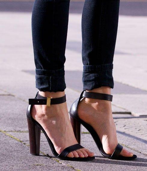 celine black sandals