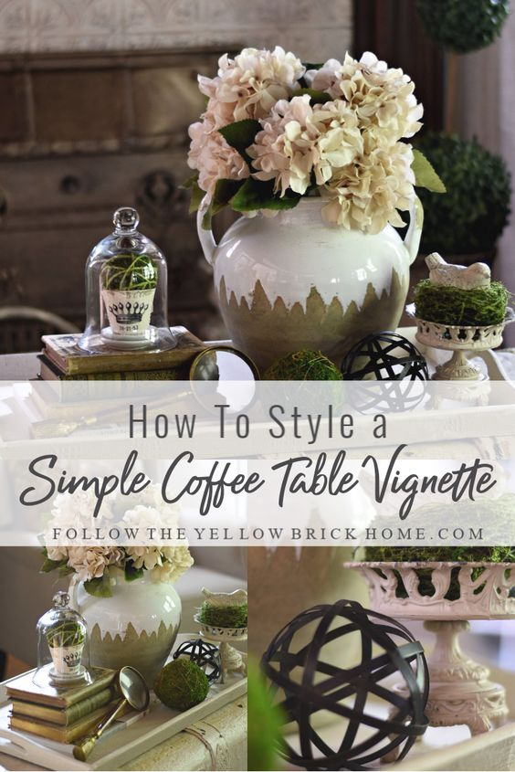 Easy coffee table styling how to decorate a coffee table simple styled tray neutral cottage farmhouse style decor