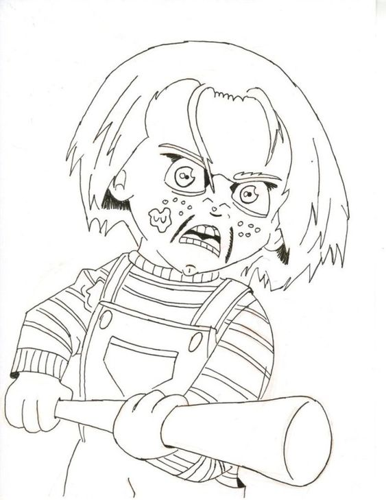 Creative Photo Of Chucky Coloring Pages Coloring Pages Princess