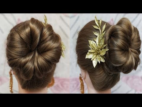 Simple Juda Updo Hairstyle For Long Hair Juda Hairstyle Raksha Bandhan Special Hairstyle You Easy Hairstyles Simple Wedding Hairstyles Long Hair Styles