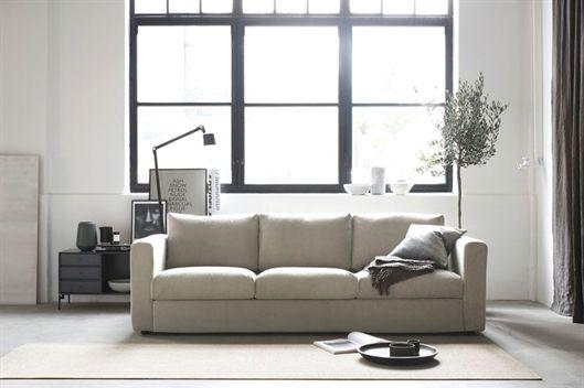 Scandinavian Minimalist Living Room With Industrial Style Windows Neutral Shades Ikea Vimle 3 Seater With A Bemz Ikea Sofa Covers Ikea Vimle Sofa Ikea Sofa