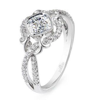 Brides Magazine: Unique Engagement Ring Settings