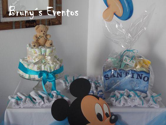 Torta de Pañales para la Agasajada, Souvenirs para las invitadas..