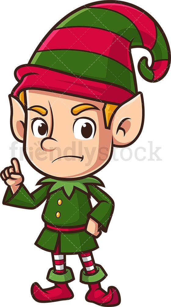 Angry Christmas Elf Pointing Cartoon Clipart Vector Friendlystock Elf Cartoon Cartoon Clip Art Christmas Elf