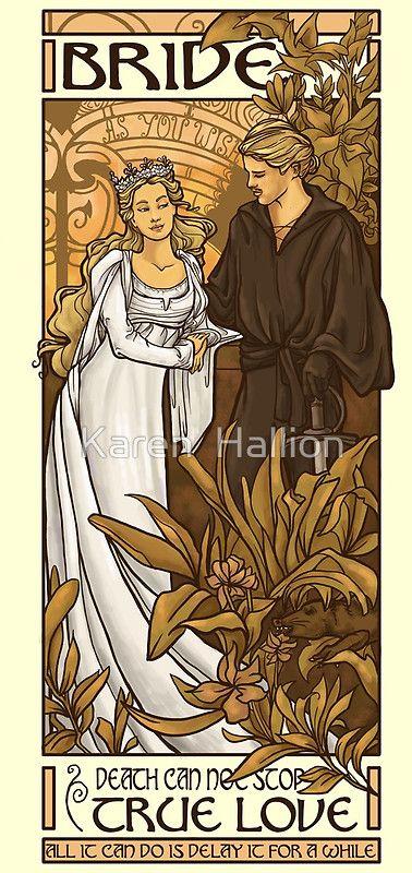 Love Karen Hallion as an artist. You can get this Princess Bride print as a poster, card or even on a shirt.