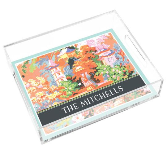 Chinoiserie Fairytale Lucite Tray Lucite Tray Chinoiserie Fairy Tales