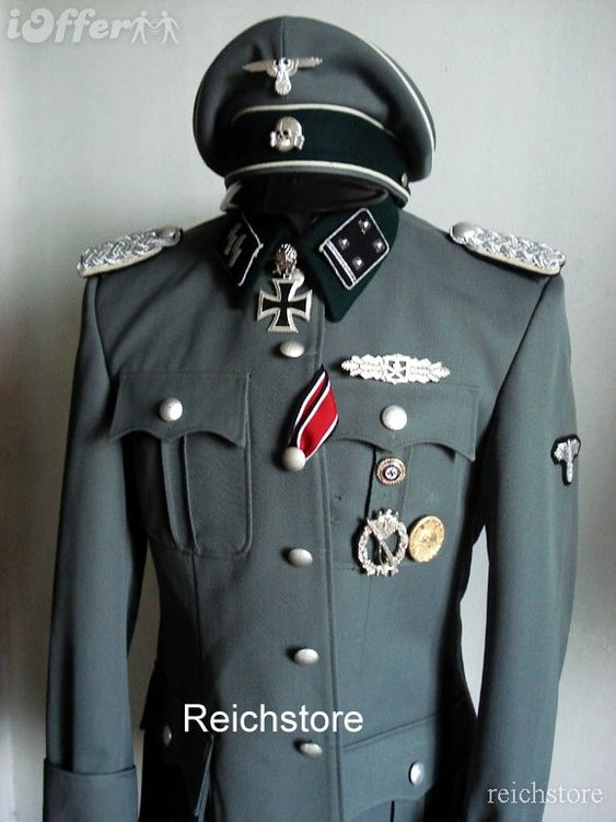 German Ss Officer Uniform 100