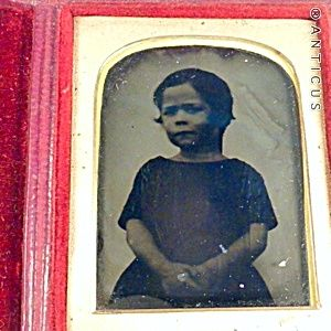 Ambrotype of a Small Girl. Please click on the image for more information.