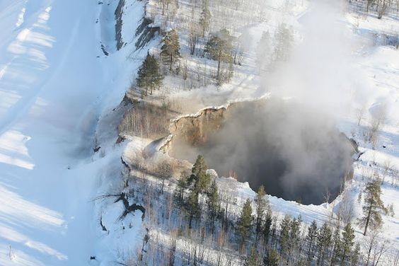 """El colapso dela mina de malmbergetno fue inesperado. La tierra debajo de Malmberget es como un queso suizo y nuevos derrumbes de techo se producen con intervalos regulares. El techo del """"Fabian"""" ha sido 'adelgazado' en doce metros en un solo año."""