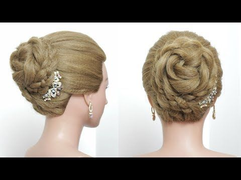 Easy Juda Style Braided Bun Hairstyle For Long Hair Tutorial Youtube Bun Hairstyles For Long Hair Braided Bun Hairstyles Braids For Short Hair