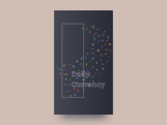 Splash Screen Currency App by Anton Zuienko