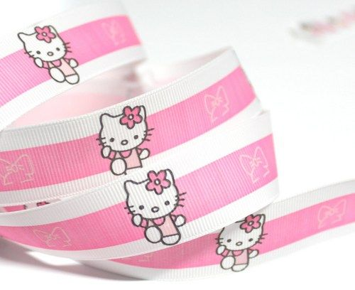 "Grosgrain Ribbon by the Yard | ... Broad Pink Striped Grosgrain Ribbon - 1"" width - BY THE YARD (130398"