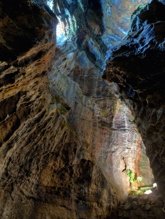 the Blue John Cavern in the Peak District