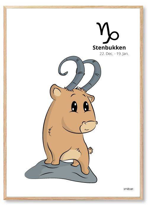 Stenbukken I 2020 Stjernetegn Plakater Billeder