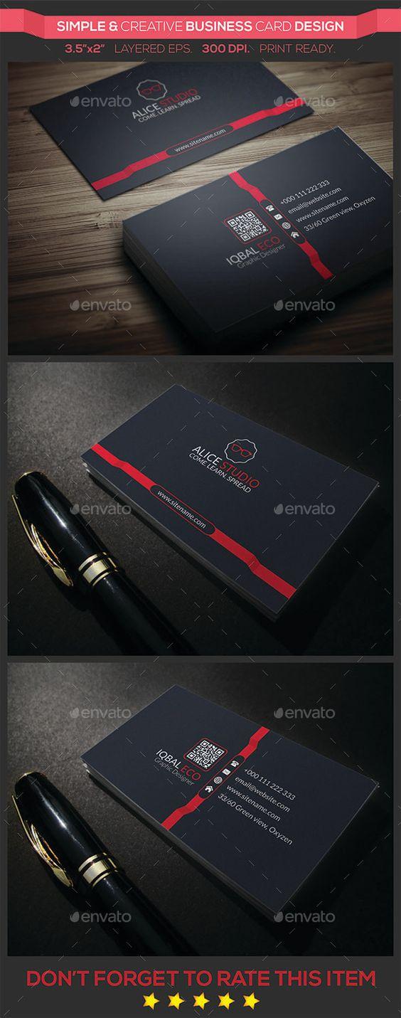 Simple & Creative Business Card Design Template #design Download: http://graphicriver.net/item/simple-creative-business-card-design/9243486?ref=ksioks