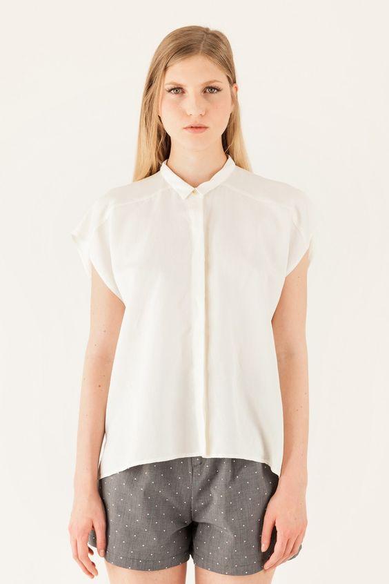 camicia ampia senza maniche