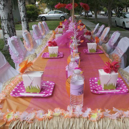 Luau Birthday Party Ideas Festa em casa Em casa e Festa