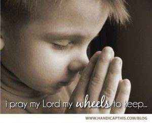 Bedtime #Prayer for a child with a #disability.