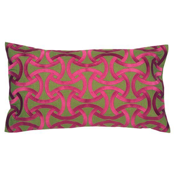 Santorini Pillow in Fuchsia
