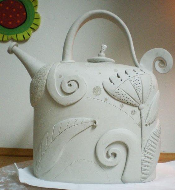 Beautiful teapot by Barbara Chadwick