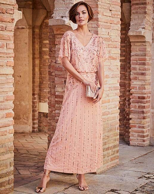 Joanna Hope Beaded Maxi Dress J D Williams Maxi Dress Beaded Maxi Dress Stretch Lace Dress
