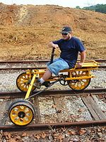 Railroad Self-Propelled Cart | Handcar designed to be operated by a single person, widely known in ...