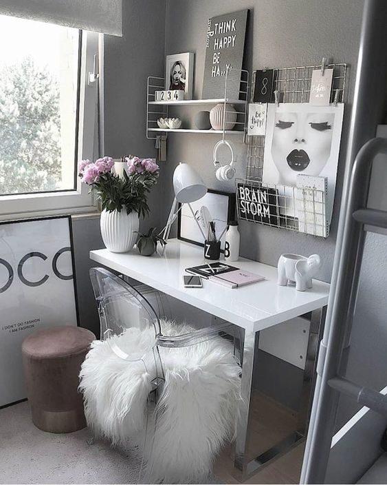 Pin By Guide19 On Bedroom Decor In 2021 Cozy Home Office Home Decor Bedroom Home Office Decor