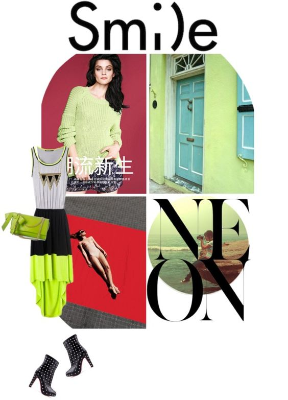 """Neon"" by marauderette-for-life ❤ liked on Polyvore"