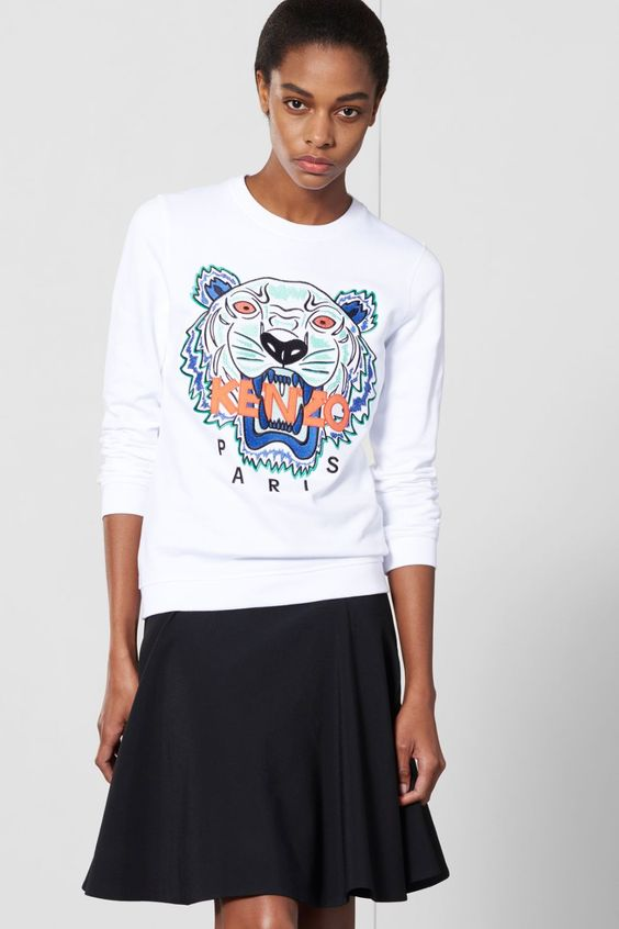 sweat shirt tiger kenzo sweat shirts pulls kenzo femme e shop kenzo kenzo pinterest. Black Bedroom Furniture Sets. Home Design Ideas