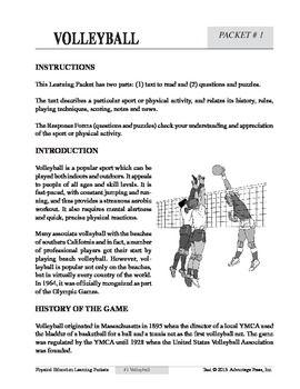 Worksheets Volleyball Worksheets volleyball worksheets for physical education 10 learning material homeworkworksheetsetc