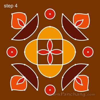 This Page Provides 7x7 Dot Rangoli Designs With Title 7x7 Dot