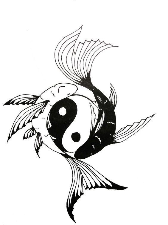 Yin yang koi fish tattoo chock full of symbolism positive negative courage overcoming life - Tatouage ying yang ...