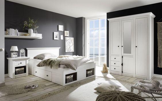 Lmie schlafzimmer ~ Loddenkemper schlafzimmer mit drehtürenschrank kiefer massiv